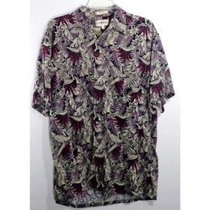 Campia Moda Men's Shirt Sz M 100% Rayon Button Dow
